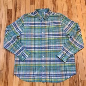 Tommy Bahama Plaid Long Sleeve Button Down Size XL